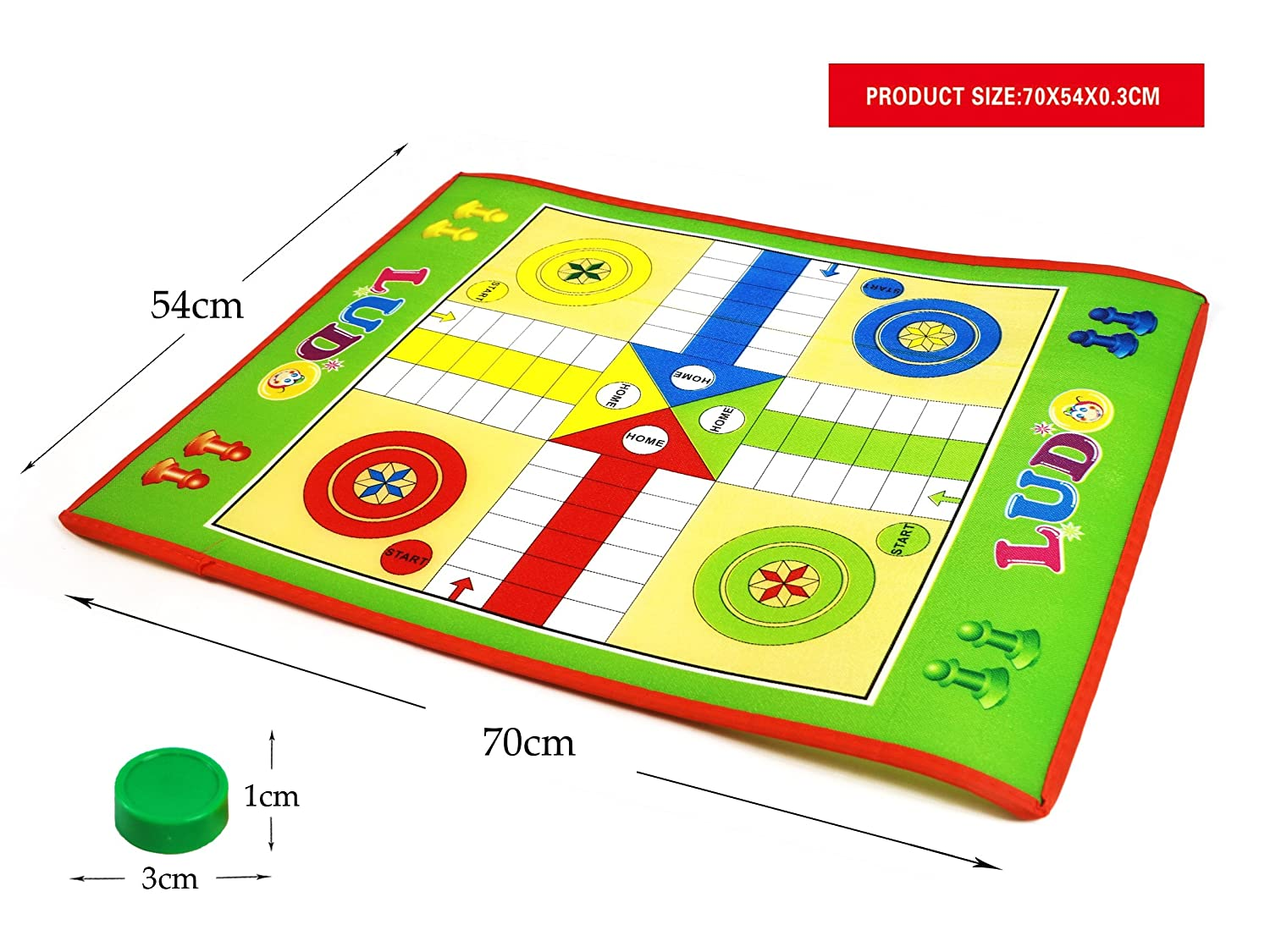 kids; traditional family board game Foldable Ludo board game set giant board space for fun play of 3