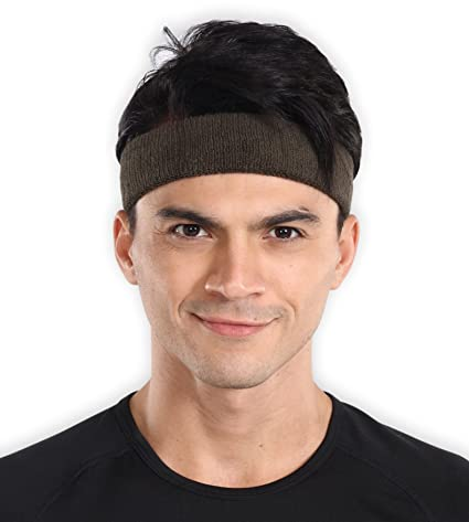 Sports Sweatband - Sweat Headband for Men   Women - Stretchy   Sweat  Absorbing Cotton Terry 2f2e7bf4f24