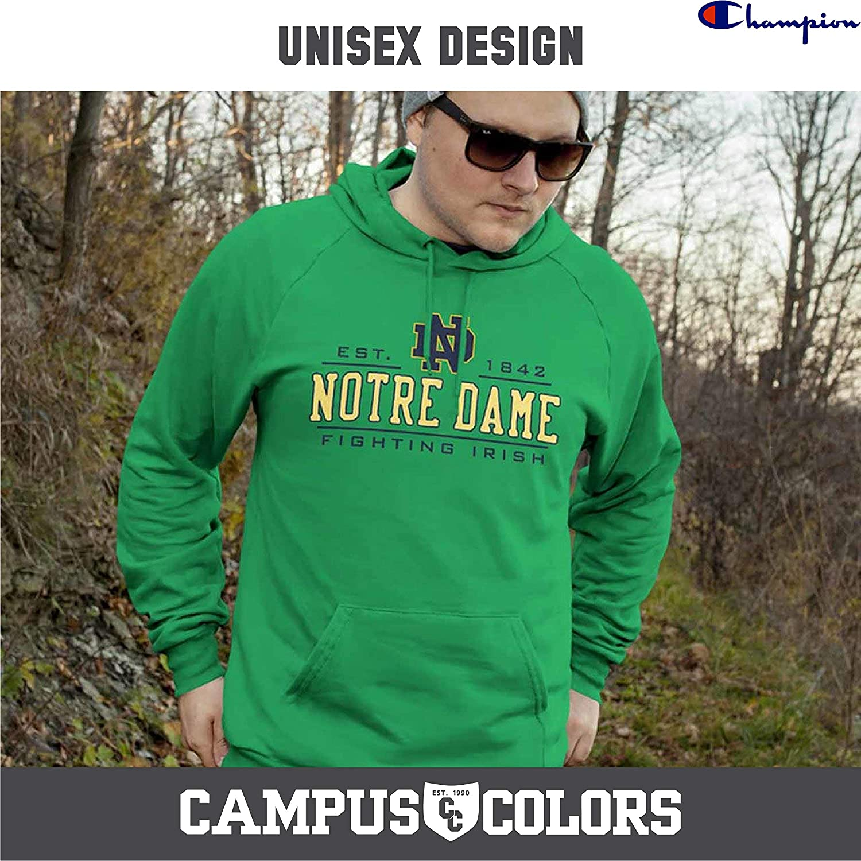 263ccd5d Amazon.com : Champion Notre Dame Fighting Irish Adult Powerblend Hooded  Sweatshirt - Green, : Sports & Outdoors