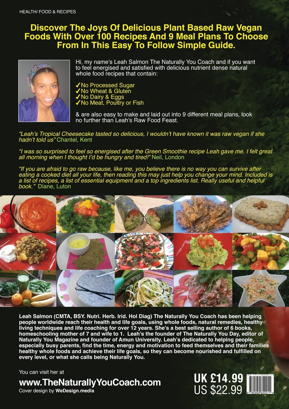 Leahs raw food feast amazon leah salmon 9780992642211 books forumfinder Images