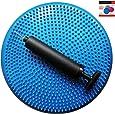 Air Stability Wobble Cushion, Blue, 35cm/14in Diameter, Balance Disc, Pump Included