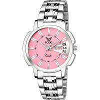 Fogg Quartz Movement Pink Dial Women's Watch - 4054-PK