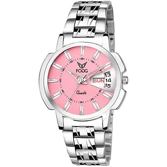 e04a2e499819 Buy Fogg Quartz Movement Pink Dial Women s Watch - 4054-PK Online at Low  Prices in India - Amazon.in