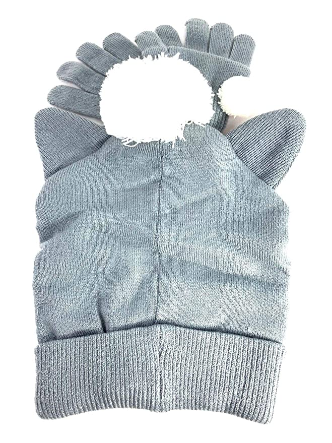 L.O.L Surprise! Scandinavian Knitted Beanie Hat with Pair Gloves Age 6-12  LOL  Amazon.co.uk  Clothing b243bb430e0