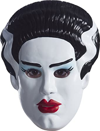 Amazon Com Rubie S Women S Universal Monsters Bride Of Frankenstein Vacuform Adult Mask As Shown One Size Clothing
