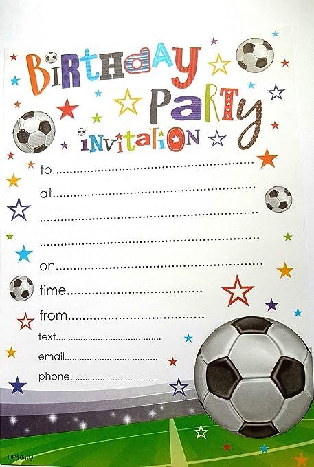 Tarjetas De Invitación Para Fiestas De Fútbol 20