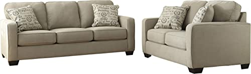 Signature Design by Ashley Alenya Living Room Set in Quartz Microfiber
