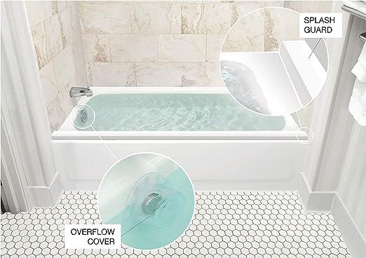 2-Pack for Bathtub Splash Guards NEW White Bathtub Shower Splash Guard