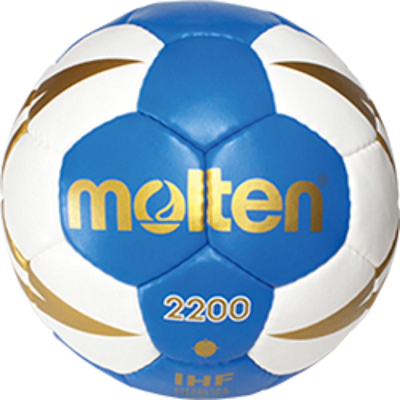 TALLA 2. MOLTEN 18X Handball H3x 2200de BW H2X 2200de BW H1X 2200de BW H0X 2200de BW Balón de entrenamiento + RS de Sports Bolígrafo, color azul/blanco/dorado, tamaño 2