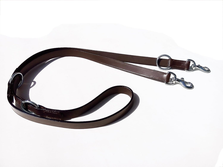 Multiusos de piel correa del perro para Waliking y formación en marrón color 7pies de largo