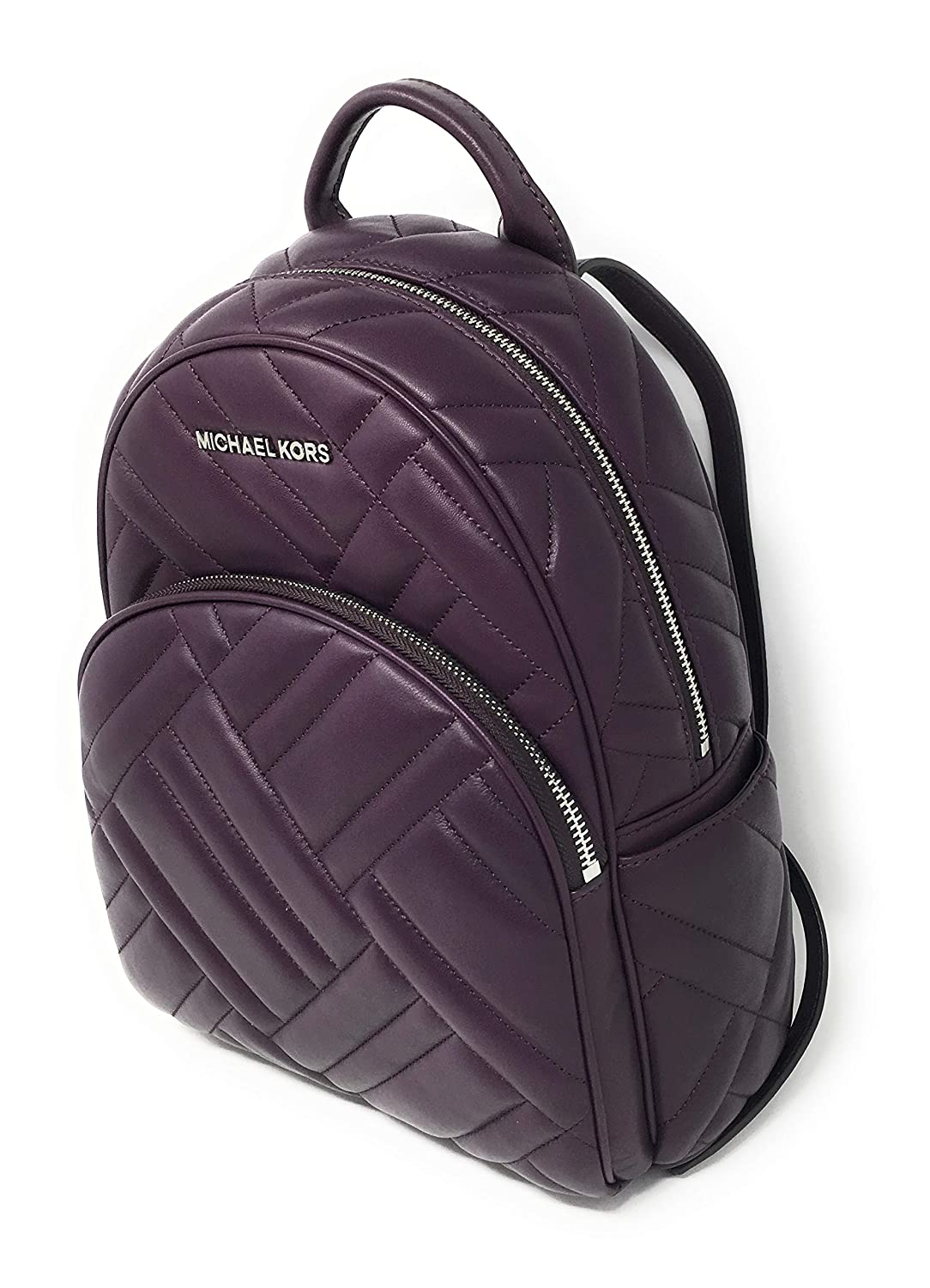 125c6d4205576f Amazon.com: Michael Kors Abbey Medium Chevron Quilted Leather Backpack  Damson: Shoes