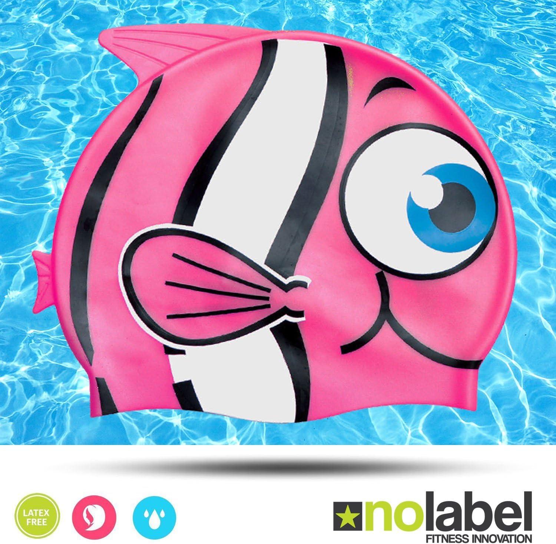 No Label Occhialini da Nuoto per Bambini Sistema Regolabile Facili da Indossare Junior Occhialini da Nuoto Non Lasciano Entrare lacqua e Ti Proteggono dai Raggi UV
