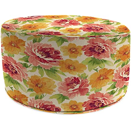 Swell Amazon Com Jordan Manufacturing Outdoor Patio Round Pouf Squirreltailoven Fun Painted Chair Ideas Images Squirreltailovenorg