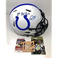 $299 » Quenton Nelson Indianapolis Colts Signed Autograph Rare LUNAR ECLIPSE Full Size Helmet 1st Round Pick Inscribed JSA Witnessed Certified