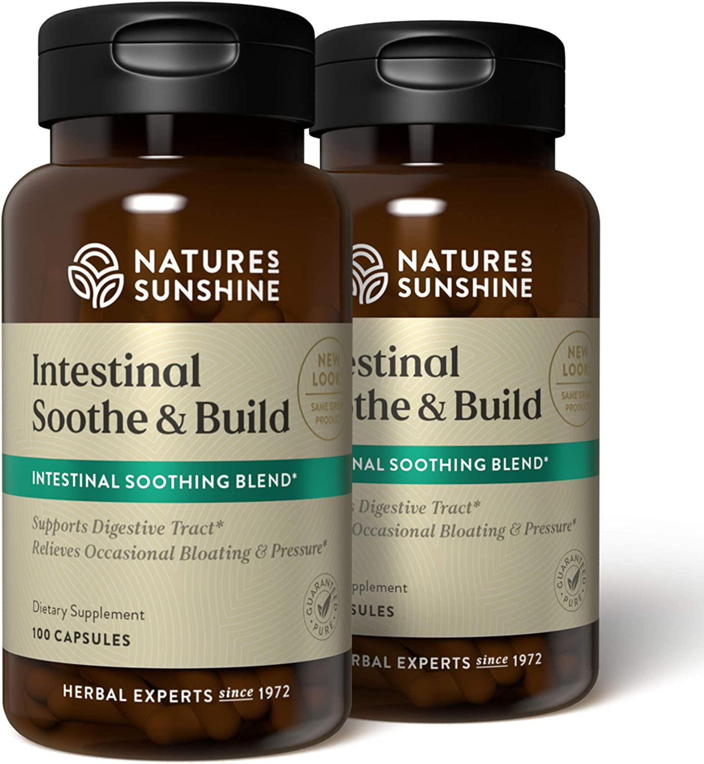 Nature's Sunshine Intestinal Soothe and Build 100 Capsules, 2 Pack