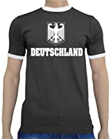 Touchlines Men's Ringer T-Shirt Germany European Cup