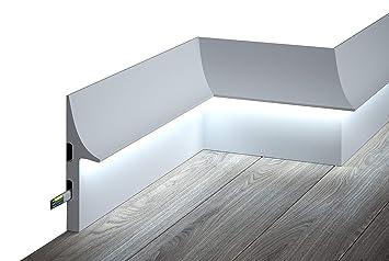 QL008 Licht Fußleiste I Sockelleiste Für Indirekte LED Beleuchtung Aus  Hochfestem Polyurethan