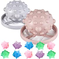 baystar 10 Pieces Hair Lint Remover Washing Ball Magic Laundry Ball and 2 Pieces Washing Machine Lint Catcher Float…
