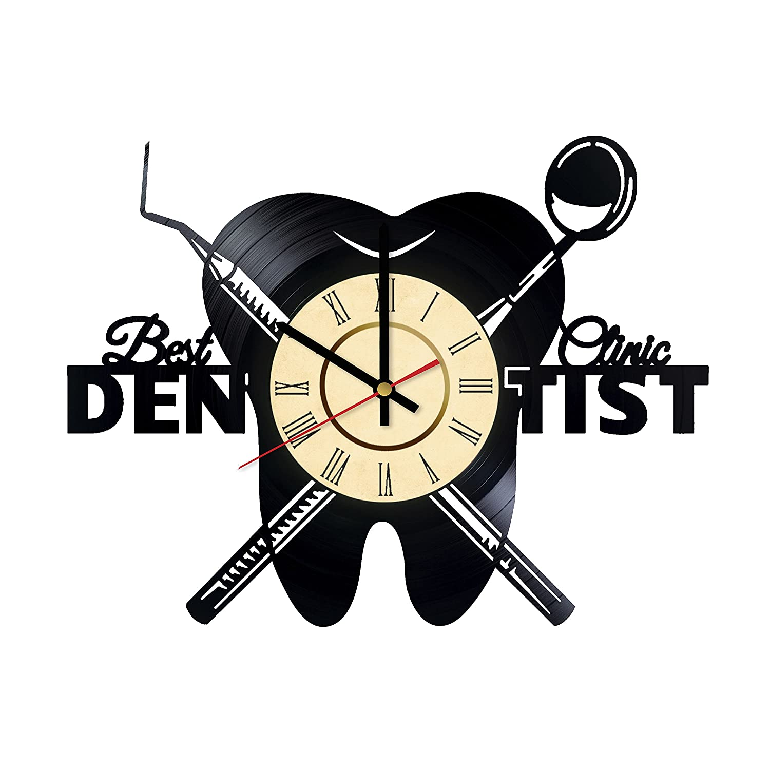 Dentist Vinyl Wall Clock Stomatology Unique Gifts Living Room Home Decor Wall Gifts