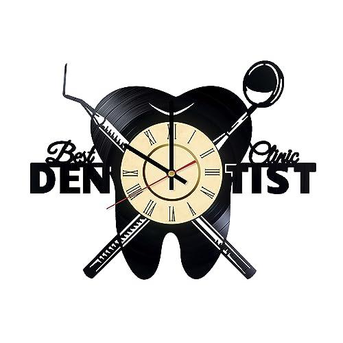 Dentist Office Design Art Decor Vinyl Record Wall Clock   Gift Idea For  Girls Boys Sister