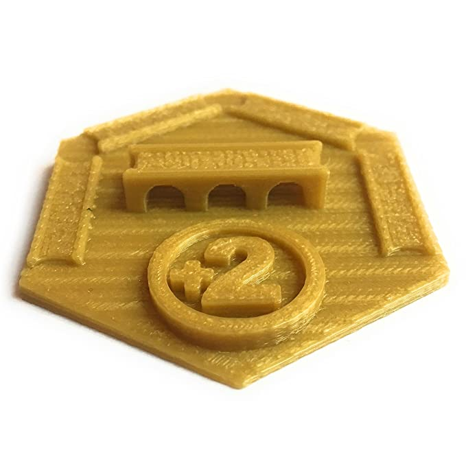Ten Talents Trading Build3D Victors Bundle for Settlers of Catan - Largest Army Trophy - Longest Road Trophy - Three Custom Robber Types