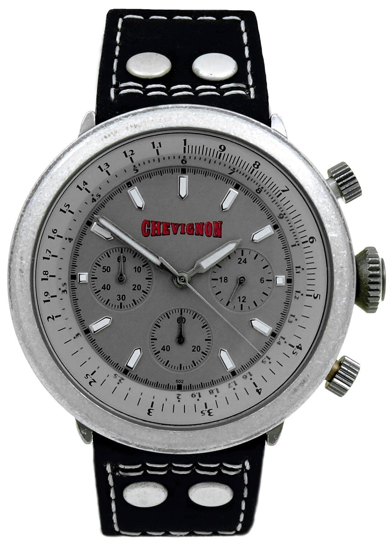 Chevignon Herren-Armbanduhr Analog Quarz Leder 92-0002-502