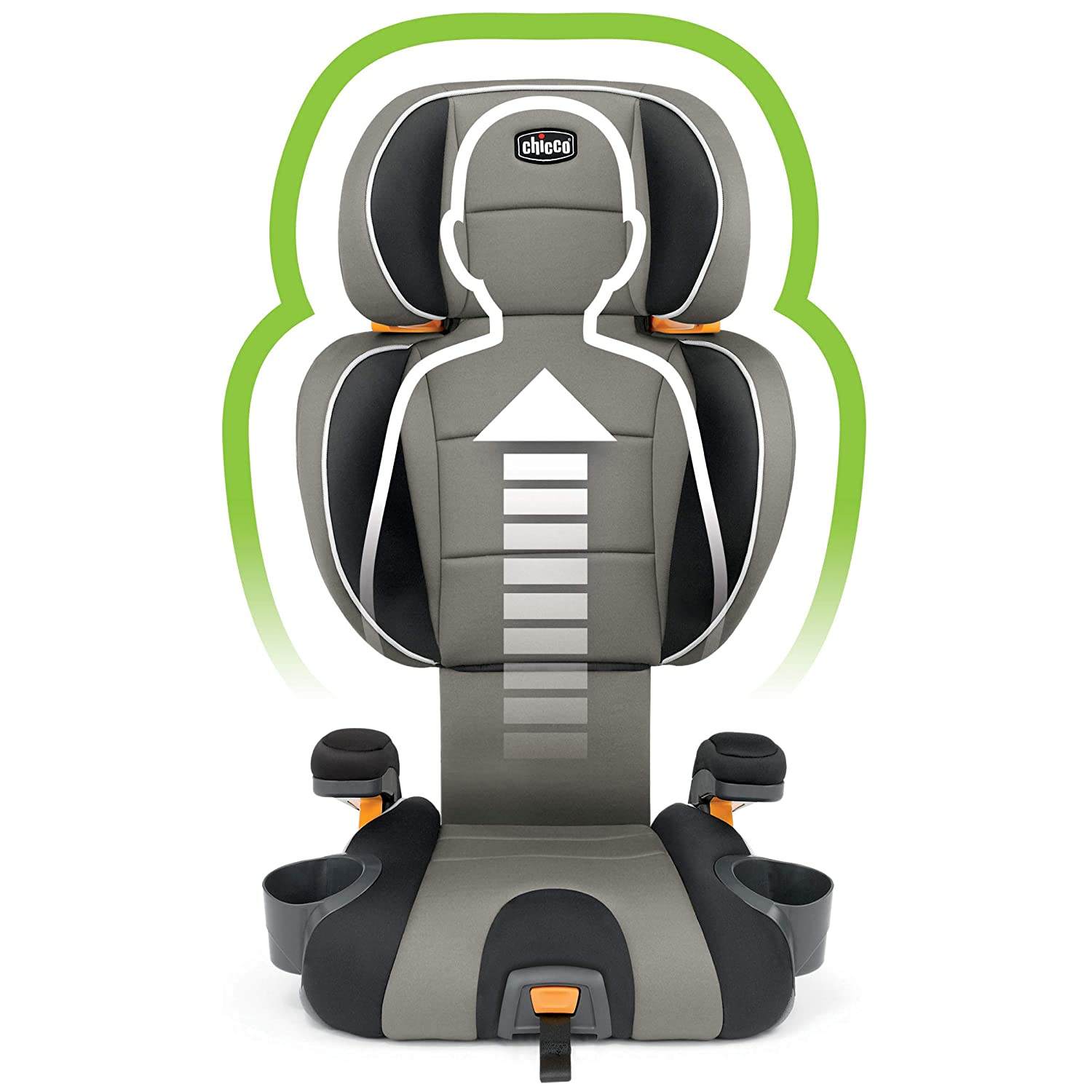 Grey Gravity Chicco KidFit 2-in-1 Belt Positioning Booster Car Seat