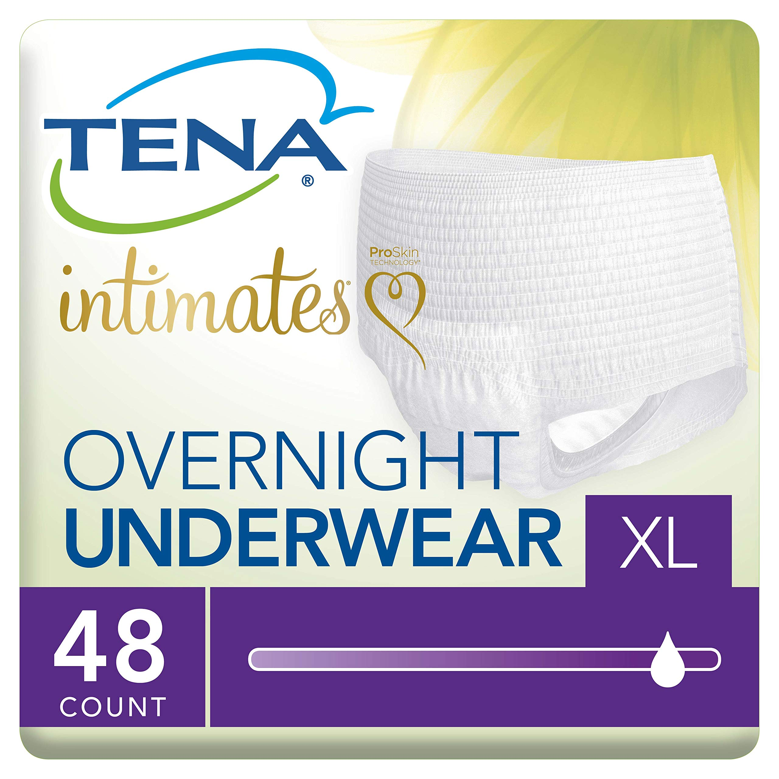Tena Incontinence Underwear for Women, for Overnight, XLarge, 48 Count by TENA