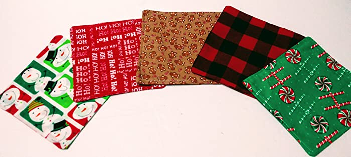 christmas cloth napkins set of 5 cloth napkins 6 kids lunch napkins - Christmas Napkins Cloth