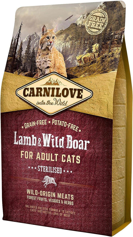 Carnilove Feline Adult Sterilised Cordero Jabali 2Kg 2000 g