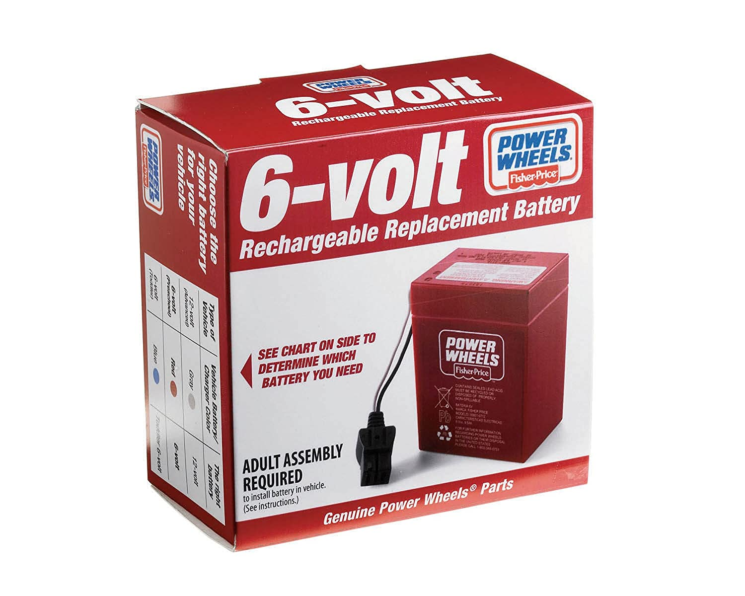 Power Wheels 6 Volt Rechargeable Replacement Battery Car Batteries In Series Also Wiring Toys Games