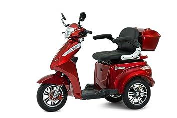 Econelo - Triciclo eléctrico móvil para mayores, silla eléctrica, rojo: Amazon.es: Deportes y aire libre