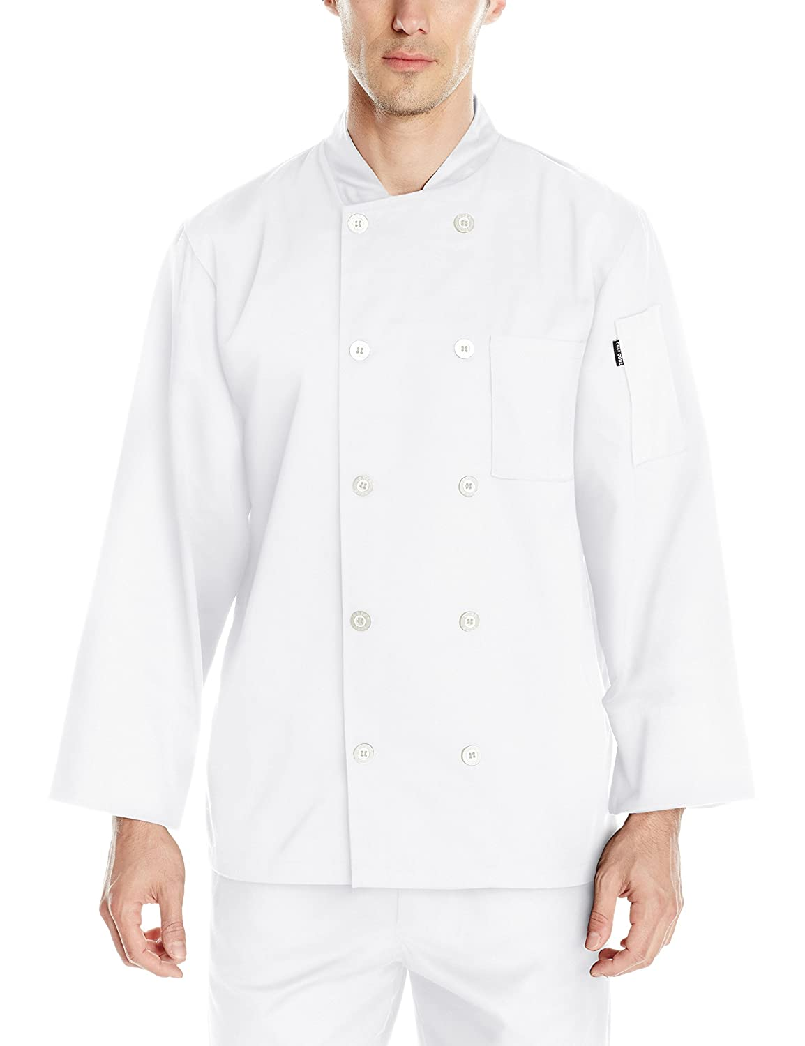 Chef Code Basic Men's Pearl Button Long Sleeve Coat Chef Code Uniforms CC110