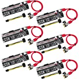 HENGBIRD 【2018新モデル】 PCI-E 1X to 16X ライザー エクステンダーカード USB 3.0 PCI-E Express 拡張子ケーブル ビットコイン採掘 マイニング 6Pin PCI-Eと15Pin SATA 6個セット