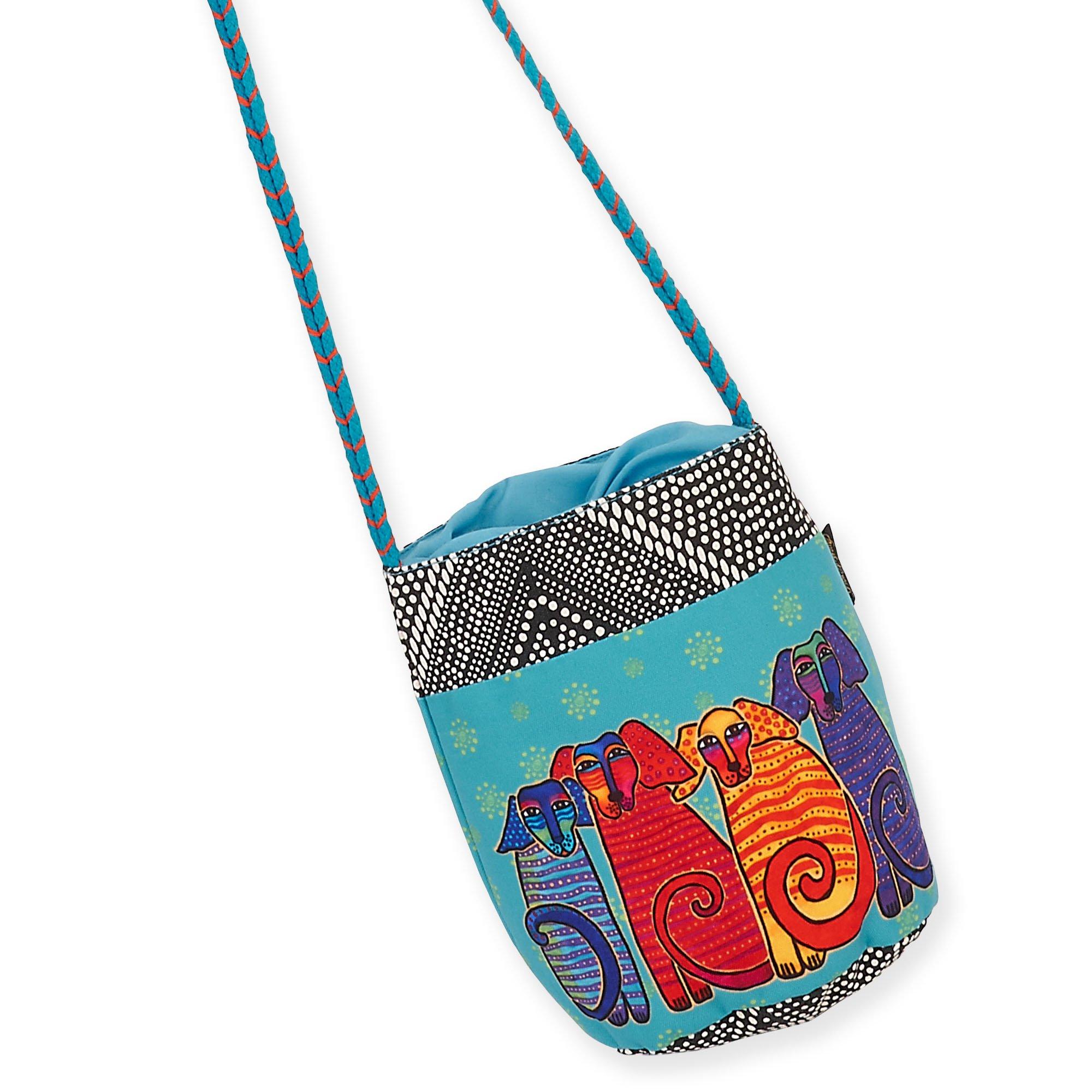 Laurel Burch Drawstring Cross-Body Bag 5700 (G. Canine Friends)