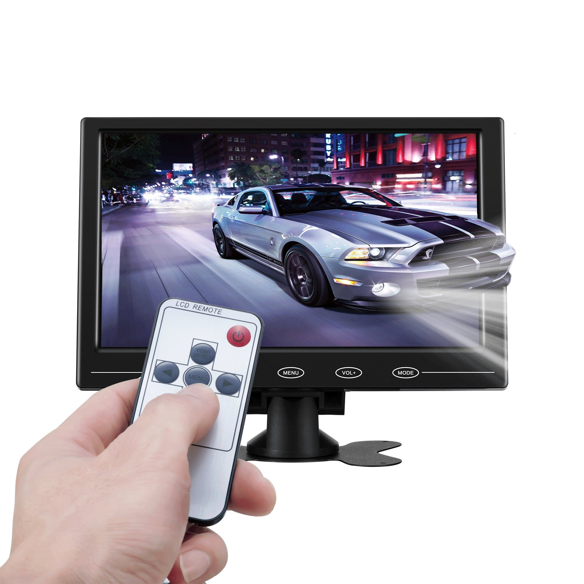 ATian 9'' HD TFT LCD Portable 1080P 1080x720 (16:9 ) High Resolution Color Screen Video Monitor Security Monitor with VGA AV HDMI Input Remote Controller for PC & CCTV & Home Security. by ATian