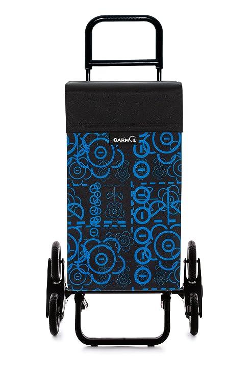 Garmol G3X3 Love C676 Carro de Compra Sube escaleras 3x3, Tela, Azul, 53x16x96