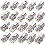 KAFEEK 20× Super Bright 1156 1141 1003 50-3014SMD LED Bulbs For Car Rear Turn Signal lights Interior RV Camper, Warm White