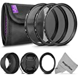 Essential Accessory Kit for CANON PowerShot SX60 HS and SX530 HS - Includes: 67mm Altura Photo Filter Kit (UV-CPL-ND4) + Carrying Pouch + Collapsible Rubber Lens Hood + Center Pinch Lens Cap