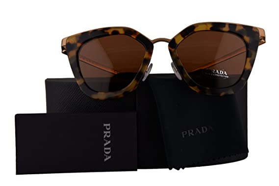 d22e821bba4 Prada Authentic Sunglasses PR53SS Medium Havana w Brown Lens 7S06N0 SPR53S  (52mm)  Amazon.co.uk  Clothing