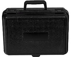 """PFC 135-100-044-5SF Plastic Carrying Case, 13 1/2"""" x 10"""" x 4 3/8"""", Black"""