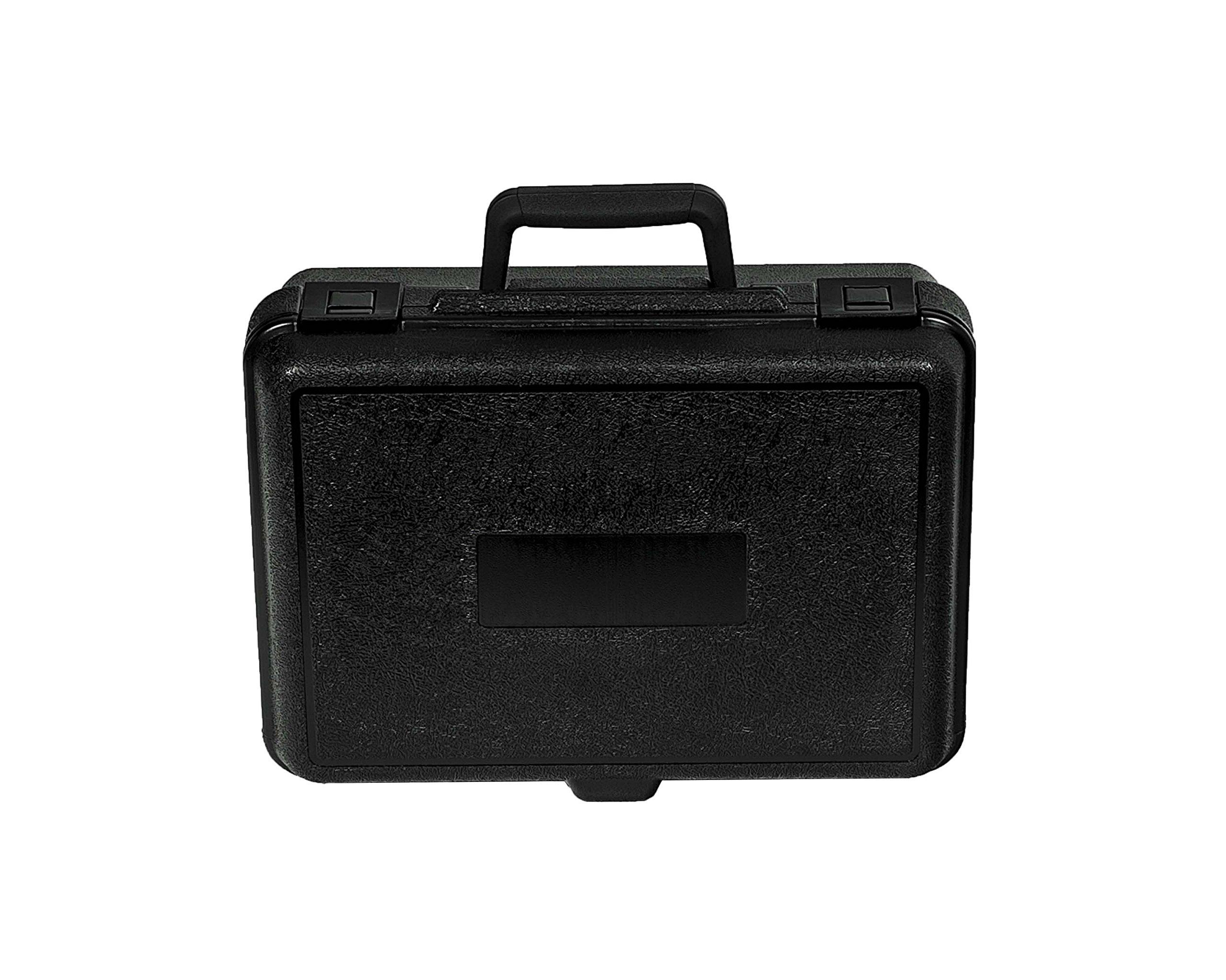 PFC 135-100-044-5SF Plastic Carrying Case, 13 1/2'' x 10'' x 4 3/8'', Black