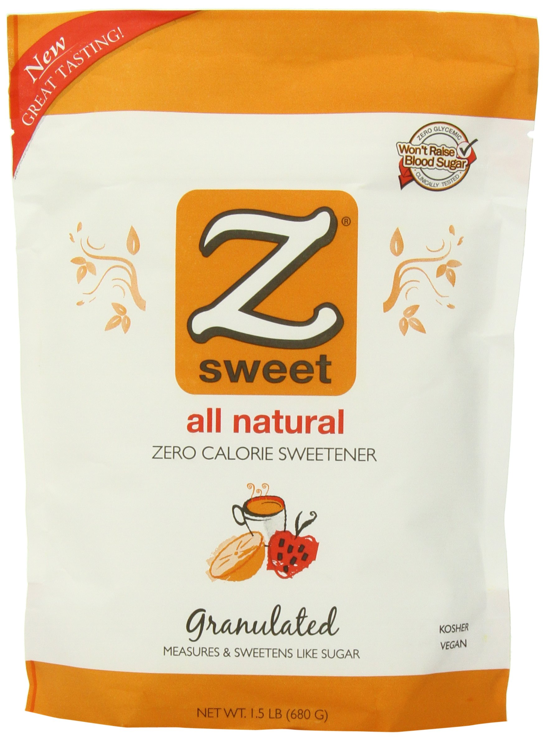 Zsweet All Natural Zero Calorie Sweetener, 1.5-Pound Pouches (Pack of 2) by Zsweet