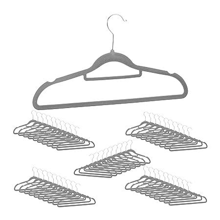 Kleiderbügel mit Samt überzogen Hosenbügel Samtbezug Hemdenbügel platzsparend