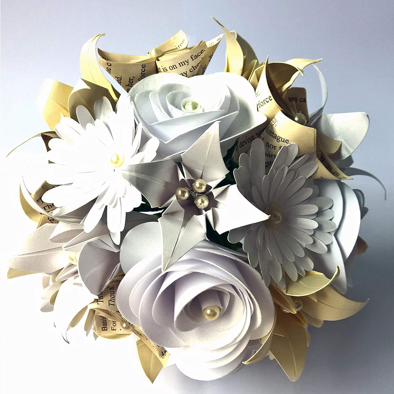 Bouquet Sposa Di Carta.Bouquet Di Carta Romeo E Giulietta Sposa Matrimonio Fatto A Mano Amazon It Handmade