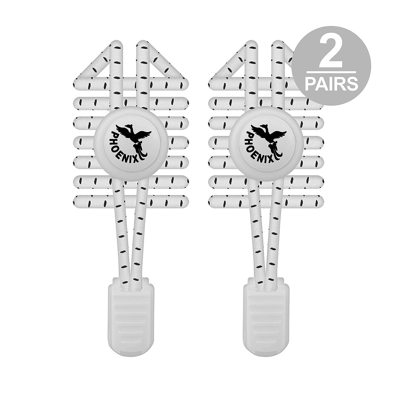 Facile /à installer avec un large choix de coloris 2 paires Phoenix Fit UK Lacets /Élastiques autobloquants pour Les Enfants et Adultes Sadapte /à vos chaussures