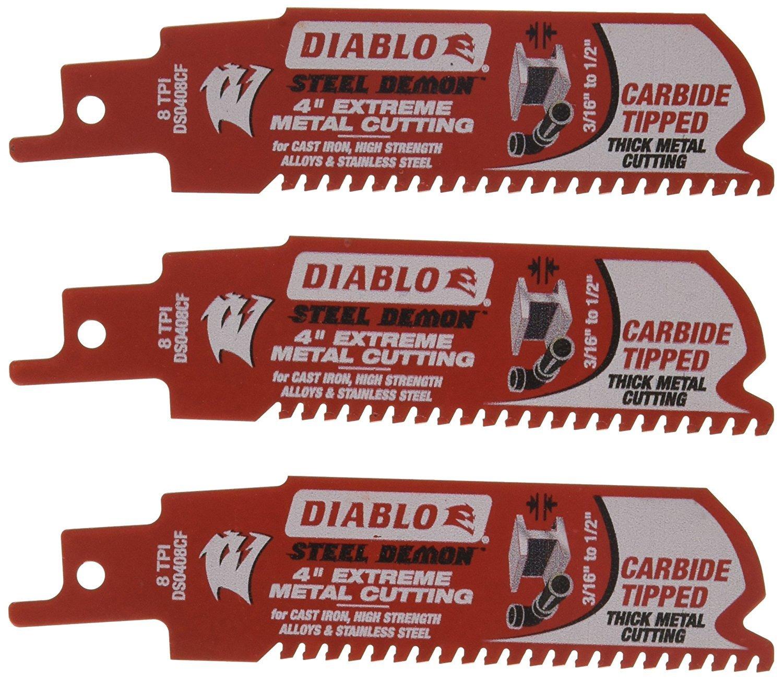 "Freud-Diablo DB Carbide 4 8TPI 3PK SENS, Multi, 4"" (DS0408CF3)"