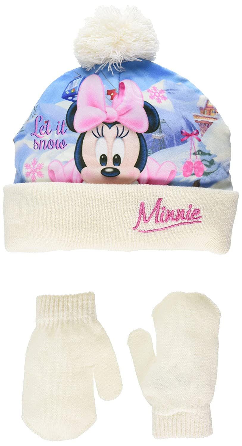 Disney Baby Girls' Minnie Mouse Let It Snow Hat