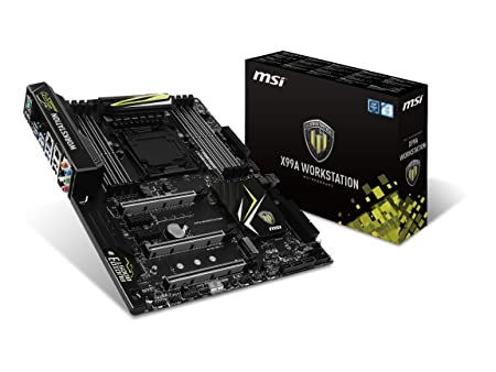 MSI X99A Workstation Intel Socket LGA2011 Extended ATX Motherboard Motherboards at amazon