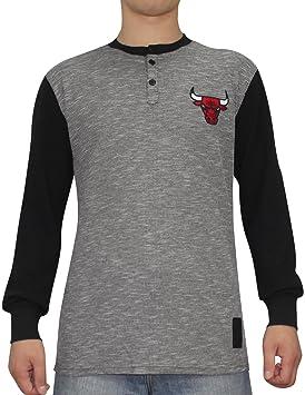 UNK NBA Chicago Bulls para Hombre Athletic de Manga Larga Camiseta, Hombre, Grey &